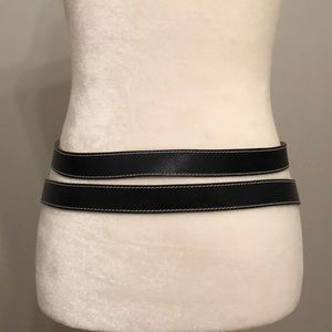 Worth Accessories - Leather wrap belt w/gold. GUC SM